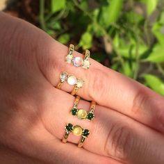 Happy weekend, everyone! #split #rings #jewelry #gold #new #summer #style…