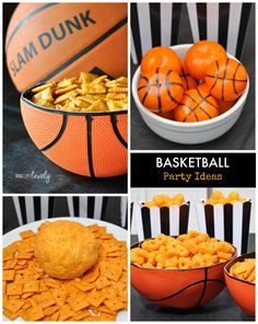 Creative ideas for putting together a basketball party or for watching your favorite basketball team play!