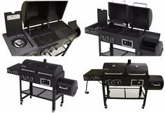 Gas Charcoal Smoker Grill Side Burner 1800CGS Outdoor Cooking Range Top Propane #GasCharcoalUSA