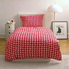 #design3000 Bettwäsche-Set Herzen von byGraziela - Bettbezug und Kissenbezug aus Baumwoll-Satin.