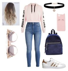 Grace's style by grace-karali on Polyvore featuring polyvore, fashion, style, adidas, Betsey Johnson, Jimmy Choo, Charlotte Russe and clothing