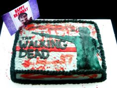Walking Dead cake for my brother.
