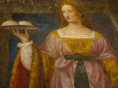 サン・マウリツィオ教会内の ベルナルディーノ・ルイーニのフレスコ画 聖アガタ Sant'Agata by Bernardino Luini