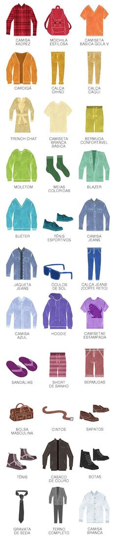 Conheça 33 itens que todo homem que se preocupa com seu estilo deve ter no guarda-roupa.