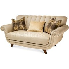 Cloche Channel Back Loveseat by AICO
