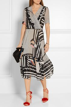 Preen by Thornton Bregazzi|Samuel printed silk-georgette dress|NET-A-PORTER.COM