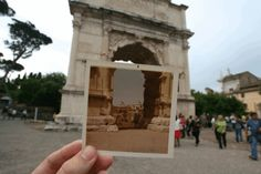 Dear Photograph,  Our trip to Rome would not have been the same without this little touch of perspective. It's one of the few times I'm happy my Dad never throws anything away! Thanks Dad.  Katie