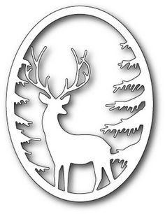 I love the Memory Box Grand Stag Oval Frame and Pine Branch Oval Frame. Using the two frame dies together creates a wonderful dimensional scene. We most often think of using deer. Diy Home Crafts, Wood Crafts, Paper Crafts, Memories Box, Christmas Stencils, Christmas Crafts, Handmade Christmas, Christmas Ornaments, 3d Puzzel