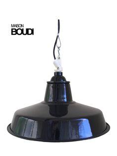 BOUDI   Workshop chute Vintage Industrial Lighting, Industrial Chair, Cafe Restaurant, French Vintage, Decorative Bells, Restaurants, Workshop, Objects, Mid Century