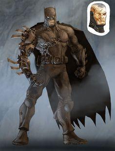 Batman from DC Universe Online by Chuk Wojtkiewicz Dc Universe Online, Batman Vs Superman, Batman Arkham, Bane Batman, Comic Books Art, Comic Art, Batgirl, Batman Redesign, Batman Kunst