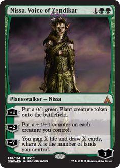 Nissa, Voice of Zendikar SDCC 2016 foil promo zombie planeswalker Magic the Gathering card
