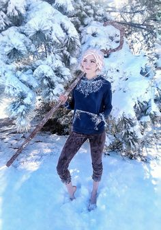 /r/cosplay: for photos, how-tos, tutorials, etc. Cosplayers (Amateur and Professional) and cosplay fans welcome. Jack Frost Cosplay, Jack Frost Costume, Couple Halloween Costumes, Halloween Cosplay, Girl Costumes, Costumes For Women, Halloween 2020, Couples Cosplay, Cosplay Outfits
