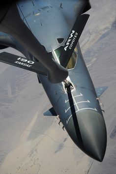 B-1B  inflight refueling **actually was able to be flying in a KC-10 and watch the refueling of the B-1B..awesome