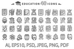 Set of Education Icons by robuart on Creative Market