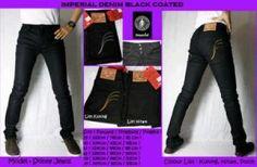 IMPERIAL BLACK COATED LIST GOLD  harga eceran : Rp. 170.000 / celana (1 -2 pcs) harga grosir Rp 150.000 /celana (3 pcs atau lebih) belum termasuk ongkir IMPERIAL BLACK COATED LIST GOLD  Bahan denim jeans Ukuran 29-34 Kualitas kw super Pemesanan via SMS IMPERIAL BLACK COATED LIST GOLD  Pemesanan via SMS  Anda dapat melakukan pemesanan melalui SMS dengan format sebagai berikut:  Nama | Alamat Lengkap | Produk Yang Dipesan | Jumlah Pesanan  kirim ke 085701111960