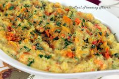 Mashed Confetti Cauliflower l Meal Planning Maven #mashedcauliflower #easysidedishes #healthysidedishes #lowfatrecipes Easy, healthy and delicious side dish...your family will never the mashed potatoes!