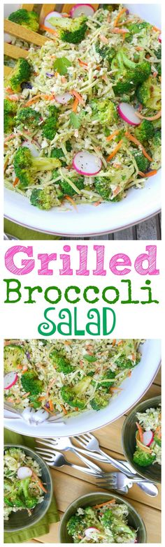This Grilled Broccoli Salad will take center stage at your next gathering. The…