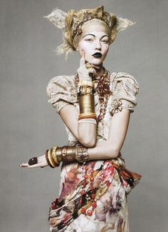 Sasha Pivovarova for Vogue, May 2010.  Photographed by David Sims and styled by Tonne Goodman.
