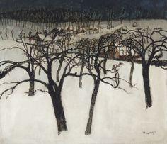 Albert Saverys, Neige en Flandre, c.1920