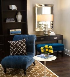 Dark Blue And Brown Living Room jestine salazar (jestine_salazar) on pinterest