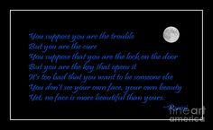Rumi Quote - Beauty - Loving You Photograph  - Rumi Quote - Beauty - Loving You Fine Art Print