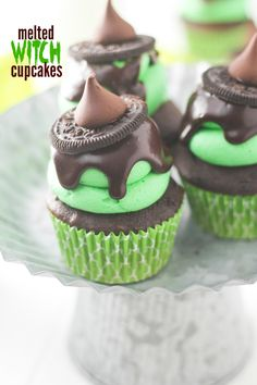 Melted Witch Cupcakes Recipe.