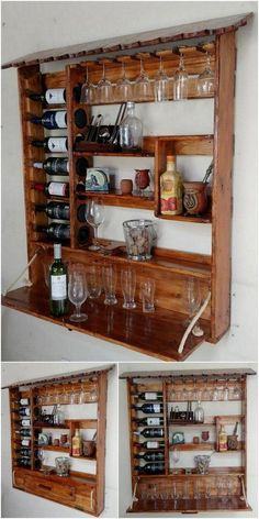 awesome pallet wooden shelve