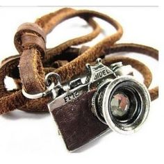 Camera pendant on leather necklace Photographers - We are currently running a 30% off Spring Clearance sale on many of our items. Use the voucher code GL30OFF at the check out to get yours now!