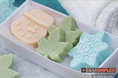 Sabonete trio natalino. Por: Peter Paiva. Natal Bem Simples. www.bemsimples.com/br/artesanato/75997-sabonete-trio-natalino