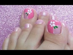 Pretty Toe Nails, Cute Toe Nails, Toe Nail Art, Mint Nails, Polygel Nails, Manicure And Pedicure, Feet Nail Design, Toe Nail Designs, Nail Art Pieds