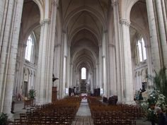 ARCHITECT, French Interior view 1150-1200 Photo Cathedral of Saint-Pierre, Poitiers (Vienne)