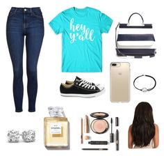 """""""Back to school"""" by rebekahdrhodes03 ❤ liked on Polyvore featuring Topshop, Converse, Dolce&Gabbana, Speck and Alex and Ani"""