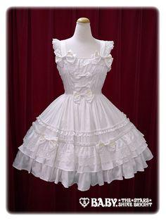 オフ白/Off white ハートパーティジャンパースカート/Heart Party jumper skirt Baby the Stars Shine Bright BSSB BtSSB BabySSB