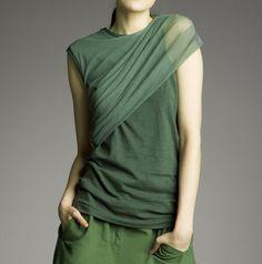 Olga Vasilevsky | Lovely idea for dressing up a t shirt, love the colour