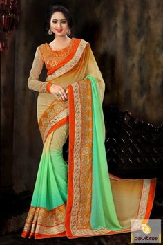 Look stylish and fashionable in this trendy orange green jacquard net designer saree online with discount rate. Get this beautiful orange color party and wedding wear embroidery saree at lowest price Diwali Special Discount Offer:  5% OFF FOR Buy 1 Product 10% OFF FOR Buy 2 Product 15% OFF FOR Buy 3 Product or more #saree, #designersaree, #festivalsaree, #designercollection, #partywearsaree, #embroiderysaree http://www.pavitraa.in/store/embroidery-saree/ callus: +91-7698234040