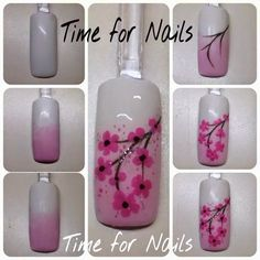 Orchid Nail: Tuto cerisier chinois - I am Lia Nail Art Hacks, Gel Nail Art, Nail Art Diy, Diy Nails, Manicure, Rose Nail Art, Orchid Nails, Flower Nails, Nail Art Designs Videos