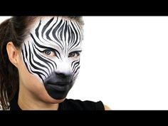 Find out how to create quick and simple face paint designs for kids with our easy face painting ideas. All face paints used are available on Party Delights. Face Painting Tutorials, Face Painting Designs, Painting Patterns, Body Painting, Zebra Face Paint, Mime Face Paint, Zebra Makeup, Animal Makeup, Animal Face Paintings