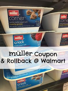 Here is a Müller® yogurt coupon and rollback deal from Walmart. Try all the lowfat, greek, granola inspired versions of this yogurt today for less. #ad #mullermomet #collectivebias