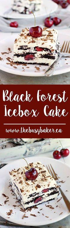 Black Forest Icebox Cake www.thebusybaker.ca #EagleBrandSummer