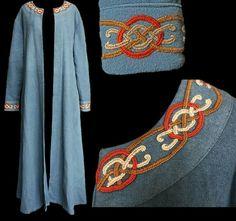 Nice embroidery! Art Viking, Viking Garb, Viking Reenactment, Viking Dress, Viking Costume, Viking Warrior, Medieval Costume, Viking Woman, Norse Clothing