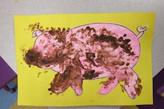 Dirty pig - have the children put 'mud' on the pig and talk about how pigs wallow in the mud because they don't have sweat glands