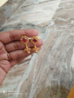 Gold Jhumka Earrings, Jewelry Design Earrings, Gold Earrings Designs, Bridal Jewelry Vintage, Gold Wedding Jewelry, Gold Jewelry Simple, Gold Rings Jewelry, Gold Buttalu, Gold Mangalsutra Designs