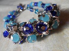 Blue Crystal Silver Tone Bracelet By Artisan by EarthMagicAndRocks, $10.99