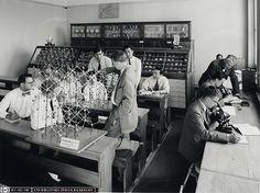 ETH Zürich, Institut für Mineralogie und Petrographie, 1955 (ETH-Bibliothek Bildarchiv, Ans_00540)