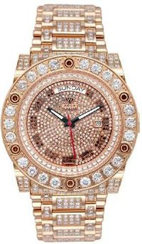 #Jewelry #Watches Men's Magnum Automatic Diamond Watch with Skeleton Back 17.00 ctw