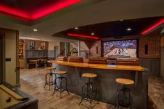 In Home Sports Bar   Basement Remodel // CHC Creative Remodeling
