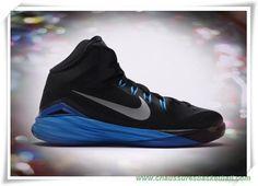 outlet store fa683 2ed59 chaussures de basket pas cher 654252-002 Nike Hyperdunk 2014 GS  Noir Bleu-Argent