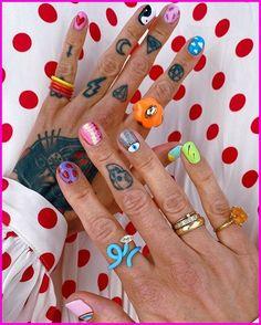 Edgy Nails, Funky Nails, Stylish Nails, Swag Nails, Funky Nail Art, Nail Design Stiletto, Nail Design Glitter, Nail Design Spring, Mens Nails