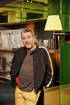 2011 Philippe Starck ©Spazio Pontaccio | Starck Philippe Starck, Portraits, Modern Furniture, Furniture Design, Leather Jacket, Jackets, Fashion, Studded Leather Jacket, Down Jackets