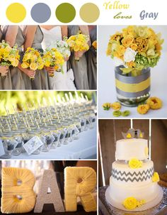 2014 trending yellow and gray summer wedding inspirations